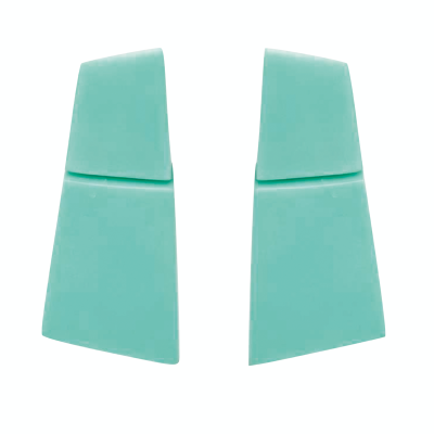 LECCE EARCLIPS GREEN 400x400 - MONIES LECCE EARCLIPS GREEN POLYESTER