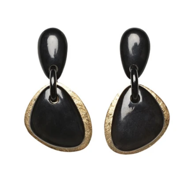 RIO EARRING IN HORN AND GOLD FOIL 400x400 - MONIES RIO EARRING IN HORN AND GOLD FOIL