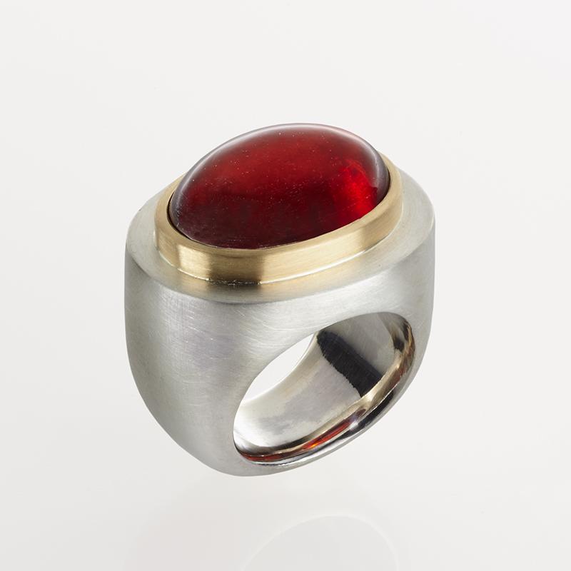 Unikat Ring Rot A 1 - Goldschmiede