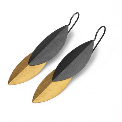 marcin zaremski K 298 Ohrhänger 925  Silber geschwärzt und vergoldet 400x400 - marcin zaremski  K 298 Ohrhänger 925/- Silber geschwärzt und vergoldet.